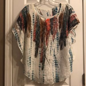 Lacy overlay top